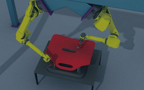 Edge Following with a FANUC robot
